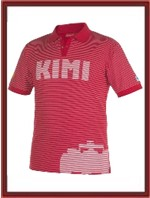 Kimi Raikkonen Ferrari Polo Shirt - Striped (320222602)