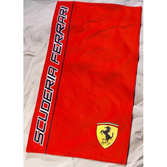 Beach Blanket Logo: Scuderia Ferrari Logo Beach Towel