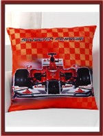 Ferrari Throw Pillow - F1 Car