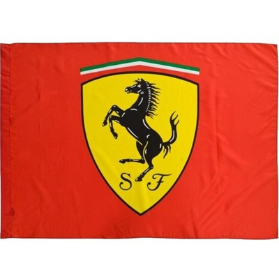 FP8913 Ferrari Logo Shield Flag - Detailed View