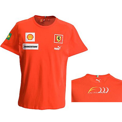 Red Felipe Massa Puma Ferrari Replica T-Shirt - Detailed View