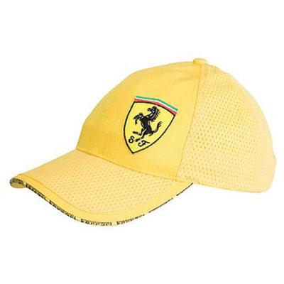 FR8512 Puma Ferrari Graphic Cap (Yellow) - Front View 242c75eec60c
