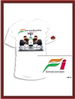 Force India F1 Car T-Shirt - White