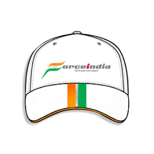 White Force India F1 Team Cap - Detailed View