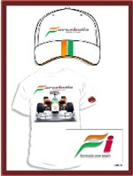 Force India F1 Team T-Shirt & Cap Combo - White