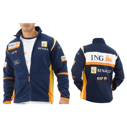 RN8312 ING Renault F1 Team Sponsor Fleece Jacket - Detailed View