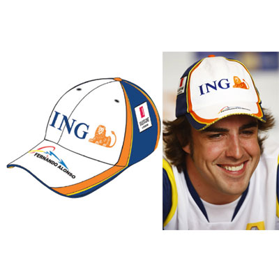 RN8511 Fernando Alonso ING Renault F1 Hat - Detailed View