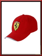 6bb4b449564 Ferrari Hi-Lite Peak Scudetto Cap - Red (SFR0106)