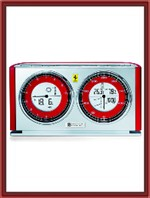Oregon Scientific Ferrari Modena Weather Clock - Red (FSW301A-R)