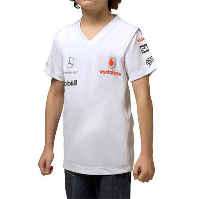 ML7011 McLaren Mercedes F1 Kids T-Shirt - Detailed View