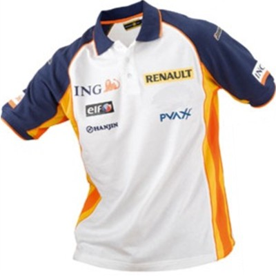 ing renault f1 team sponsor polo shirt. Black Bedroom Furniture Sets. Home Design Ideas