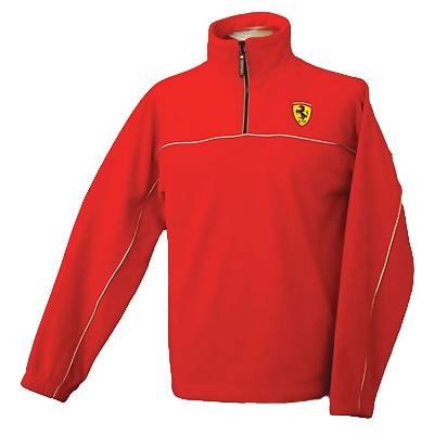 Ferrari Half Zip Fleece Pullover - Red (SFR6620)