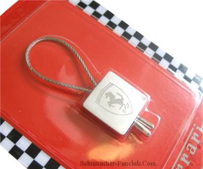 Ferrari Metal Wire Etched Logo Keychain (SFX8921)