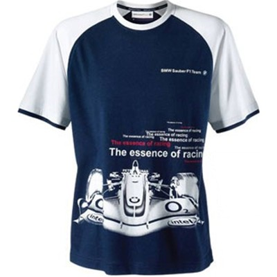 SU7112 BMW Sauber F1 Car T-Shirt - Detailed View