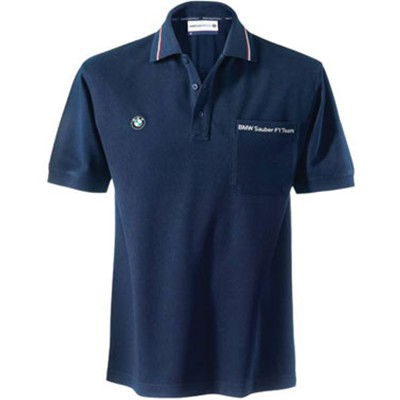 SU7211 BMW Sauber F1 Team Polo Shirt - Detailed View