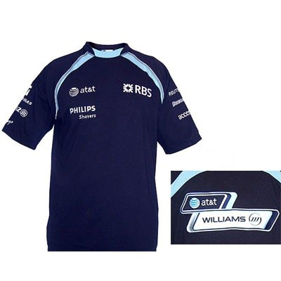 WW7111 Williams F1 Team Sponsor T-Shirt - Detailed View