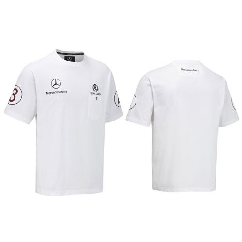 MZ0111 Mercedes GP F1 Team T-Shirt - Detailed View