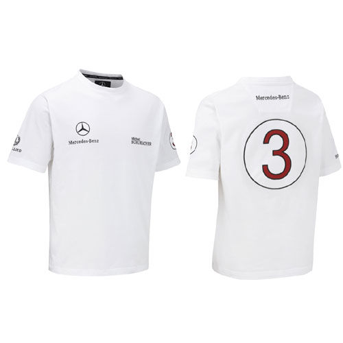 MZ0112 Michael Schumacher Mercedes T-Shirt - Detailed View