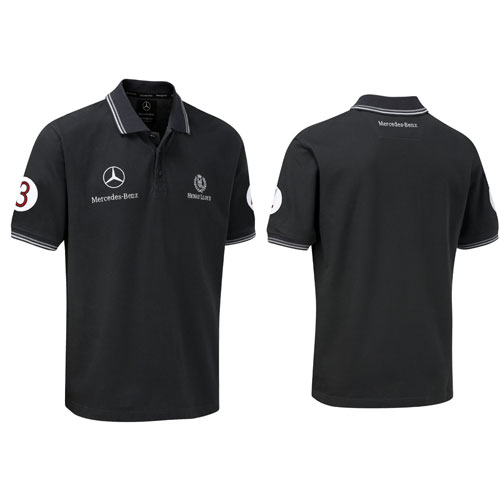 mercedes gp polo shirt black. Black Bedroom Furniture Sets. Home Design Ideas